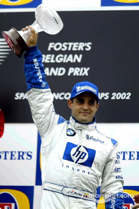 The podium: Juan Pablo Montoya