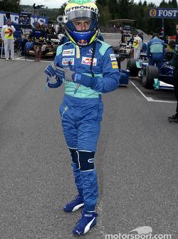 Felipe Massa en la parrilla de salida