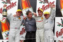 Podium: 1. Marcel Fässler, Team HWA, AMG-Mercedes CLK-DTM 2002; Bernd Schneider, Team HWA, AMG-Merce