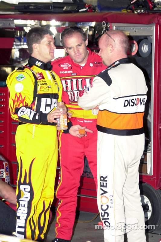 Ward Burton, Kenny Wallace y Todd Bodine