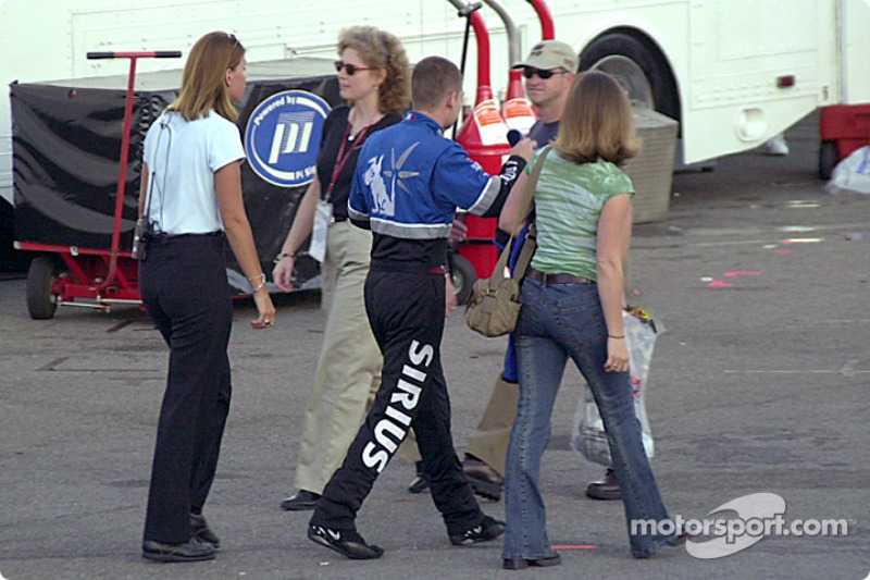 Casey Atwood heads off to the race