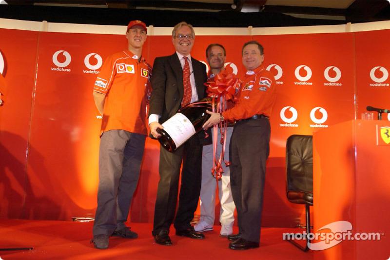 Conferencia de prensa Vodafone: Michael Schumacher y Rubens Barrichello