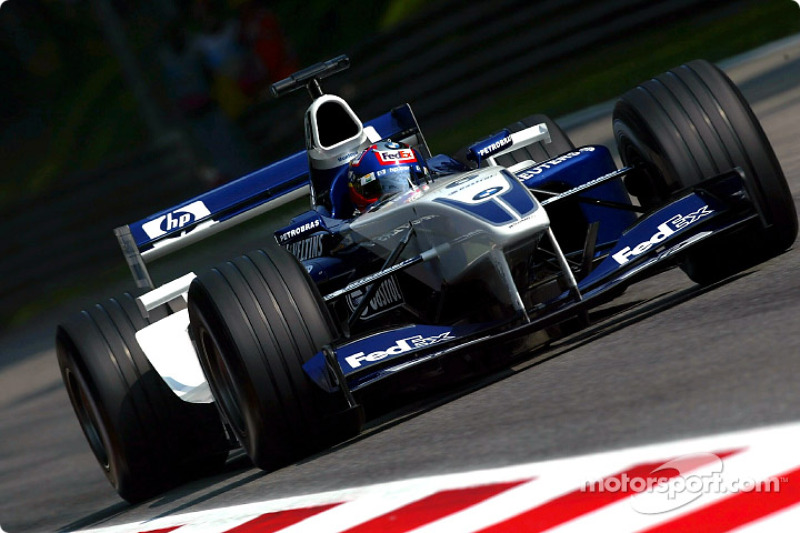 3º Juan Pablo Montoya, Williams-BMW FW24; Monza 2002: 259,828 km/h