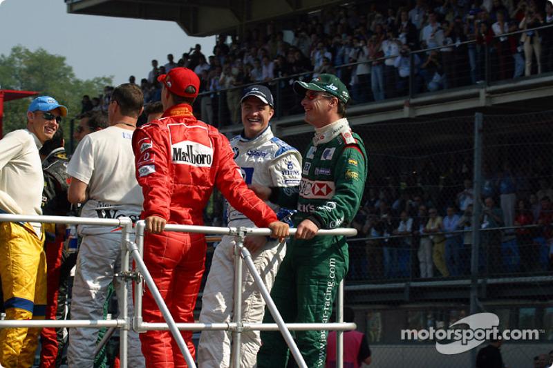 Desfile de pilotos: Ralf Schumacher y Eddie Irvine