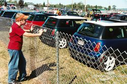 Fans try to get close to the Mini's