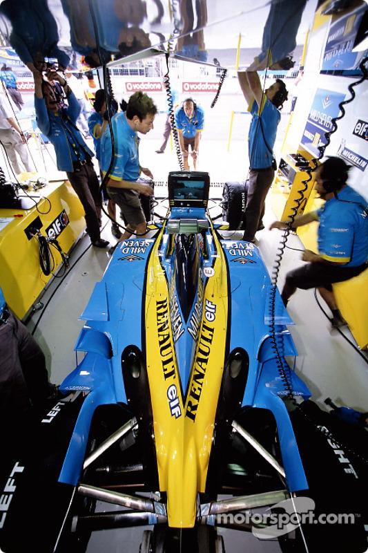 Renault F1 garage area