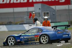Toyota Supra (GT500), Seiji Ara, Shinichi Yamaji, spins out, red flag