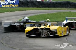 Ben Beasley tries to pass Jacek Mucha for the lead