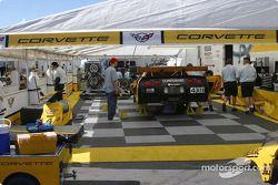 La zone de paddock de Corvette Racing