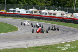 The start: Justin Pritchard leads the field