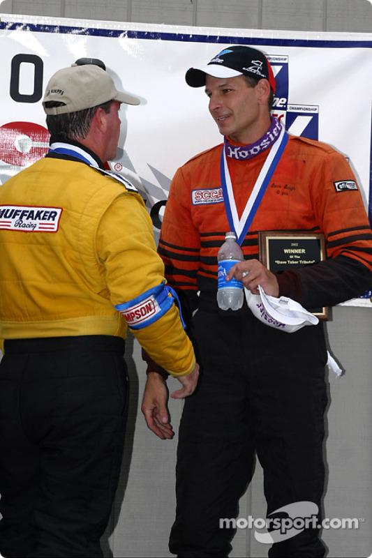 The podium: race winner Steve Sargis and Michael Pinney