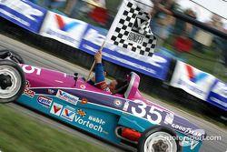 Race winner Brad Stout