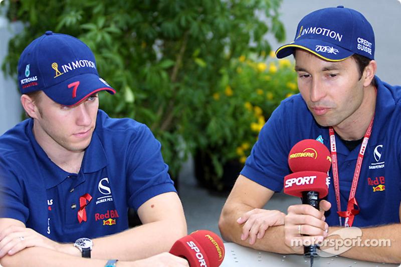 Press conference: Nick Heidfeld and Heinz-Harald Frentzen