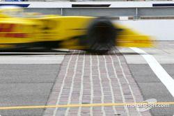 Giancarlo Fisichella crossing Brickyard