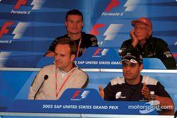 FIA Thursday press conference: Rubens Barrichello, Juan Pablo Montoya, David Coulthard and Niki Lauda