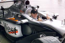 IRL-Faherin Sarah Fisher im McLaren-Mercedes