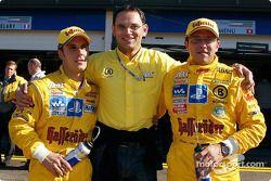 Hans-Jürgen Abt con Christian Abt y Laurent Aiello