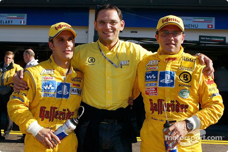 Hans-Jürgen Abt with Christian Abt and Laurent Aiello