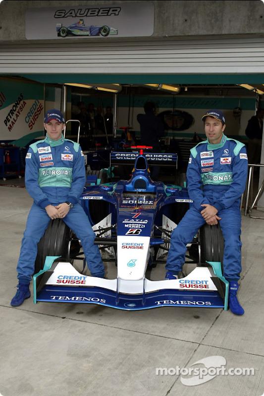 Nick Heidfeld y Heinz-Harald Frentzen