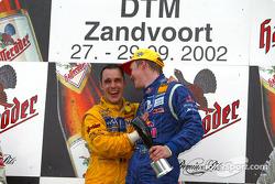 Podium: Mattias Ekström, Abt Sportsline, Abt-Audi TT-R; Laurent Aiello, Abt Sportsline, Abt-Audi TT-
