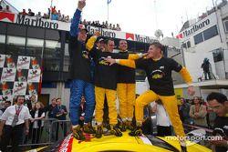 Mattias Ekström, Karl Wendlinger, el Campeón 2002 de DTM, Laurent Aiello, Christian Abt y Martin Tom