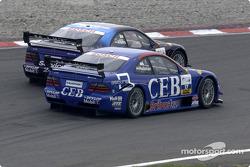 Patrick Huisman, Manthey Racing, AMG-Mercedes CLK-DTM 2001; Christijan Albers, Team Rosberg, AMG-Mercedes CLK-DTM 2001