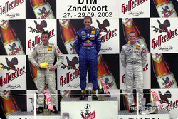 Podium: Mattias Ekström, Abt Sportsline, Abt-Audi TT-R; Bernd Schneider, Team HWA, AMG-Mercedes CLK-DTM 2002; Marcel Fässler, Team HWA, AMG-Mercedes CLK-DTM 2002