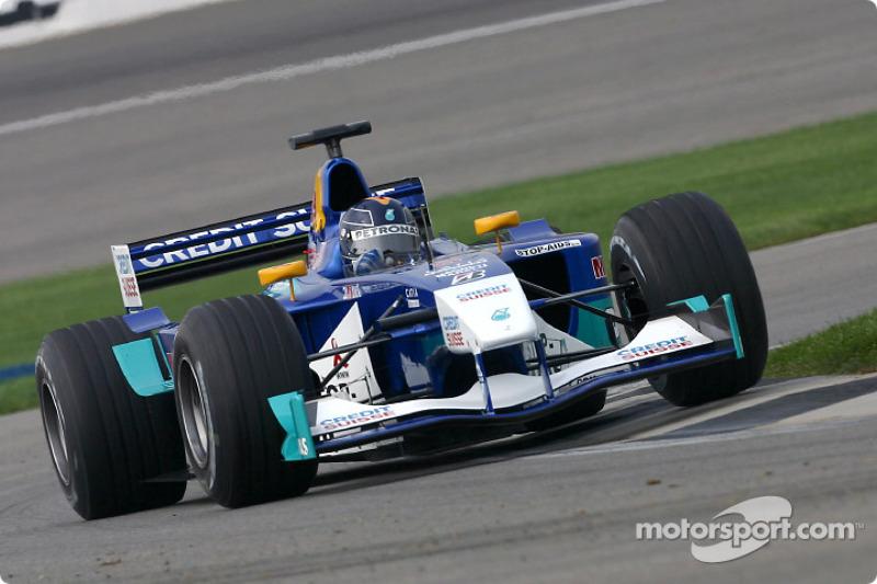 2002 год. Хайнц-Харальд Френтцен. 1 гонка в Sauber