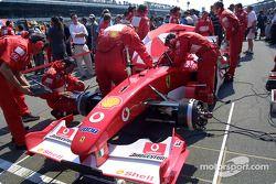 Team Ferrari gridde