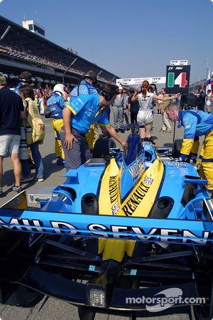 Team Renault F1 gridde