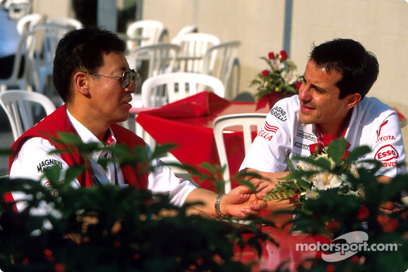 Ange Pasquali and a Toyota crew member