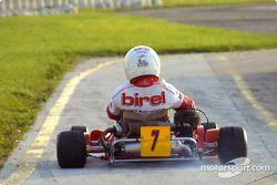Donatella Di Giorgio heads for the track