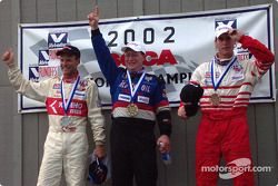 The podium: race winner David Daughtery with David Roush and Toby Grahovec