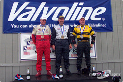 The podium: race winner John Heinricy with Bobby Archer and Robert Schader