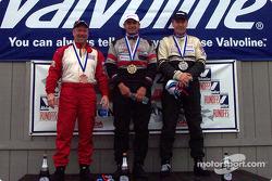 The podium: race winner Craig Chima with Jon Brakke and Jeff Dernehl