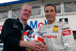 Bernd Schneider and race engineer Volker Klink