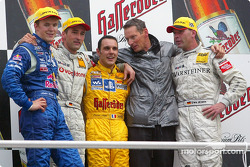 Podium: Mattias Ekström, Abt Sportsline, Abt-Audi TT-R; Bernd Schneider, Team HWA, AMG-Mercedes CLK-