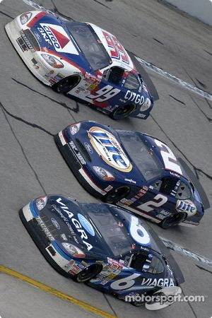 Jeff Burton, Rusty Wallace y Mark Martin