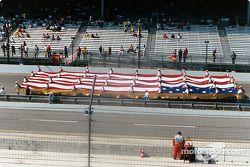 U.S.A. fan on parade