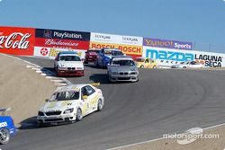 Mike Fitzgerald leads a group of cars