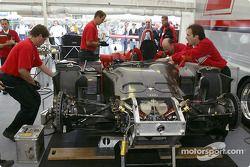 La zone de paddock de Audi