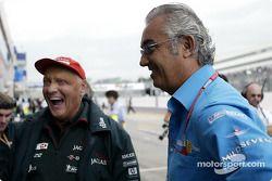Niki Lauda y Flavio Briatore