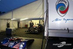 Panoz Motor Sports paddock area