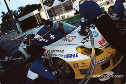 Alex Job Racing pit stop
