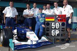 Nick Heidfeld celebra su Gran Premio 50
