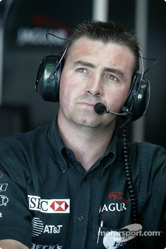 Eddie Irvine's chief mechanic Alan Maybin