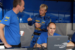Petter Solberg with his engineer