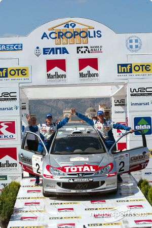 The podium: Marcus Gronholm