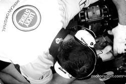 Team BAR-Honda on the starting grid