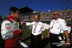 Mika Salo, Mr Fujio Cho and Ove Andersson